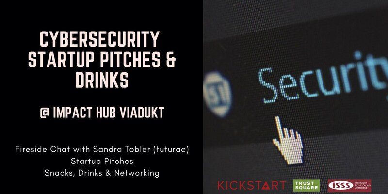Advertising banner for Cyber-security startup pitching event