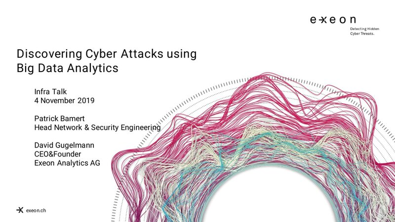 Banner for a presentation for Cyber-Security and Big-data analytics