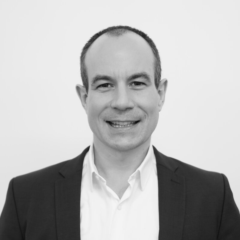 Black and white picture of CEO Dr. David Gugelmann