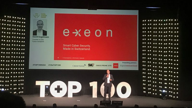 CEO Dr. David Gugelmann giving a talk at the TOP 100 even 2020
